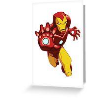 Iron Man Cartoon Greeting Card