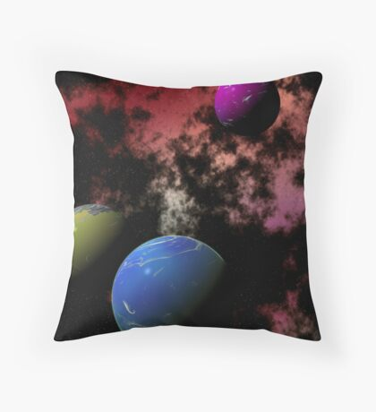 Orbiting Worlds Throw Pillow
