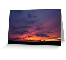 December Sky at Sunset Greeting Card