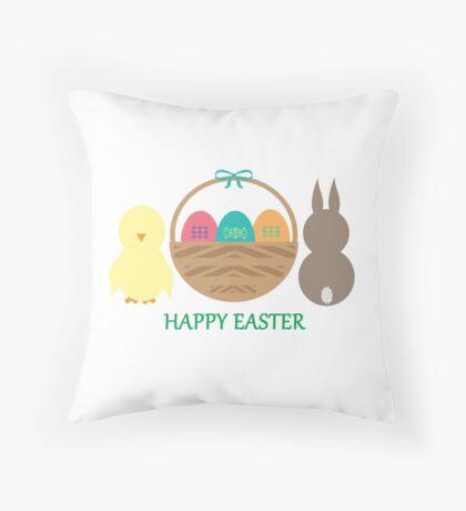 Easter Basket  Throw Pillow