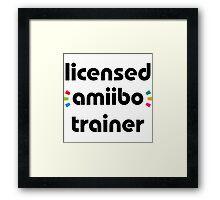 Licensed amiibo trainer Framed Print