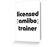 Licensed amiibo trainer Greeting Card