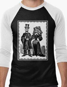Skeleton Wedding (Border) Men's Baseball ¾ T-Shirt