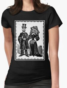 Skeleton Wedding (Border) Womens Fitted T-Shirt