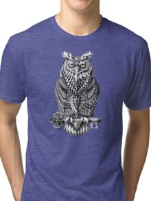 Great Horned Owl Tri-blend T-Shirt