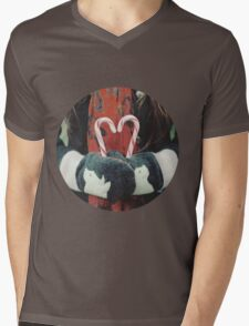 Candy cane love Mens V-Neck T-Shirt