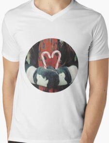Candy cane love Mens V-Neck T-Shirt