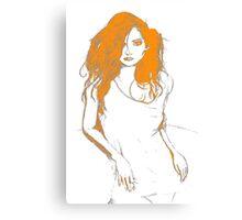 Sexy Confident Woman Canvas Print