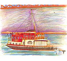 ferry boat Photographic Print