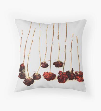 Ten Roses Throw Pillow