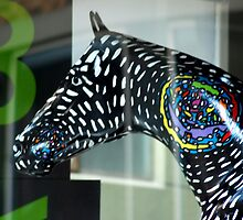 Horse in window by Amzara