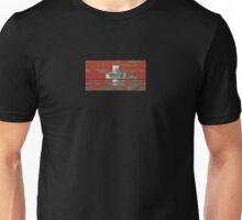 Flag of Switzerland on Rough Wood Boards Effect Unisex T-Shirt