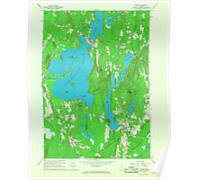 Maine USGS Historical Map Wayne 807281 1966 24000 Poster
