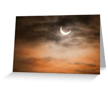 Partial solar eclipse Greeting Card