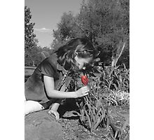 stopping to smell the flowers Photographic Print