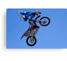 Rhys Hiller in action Canvas Print