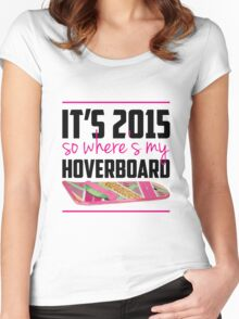 where's my hoverboard marty mcfly? Women's Fitted Scoop T-Shirt