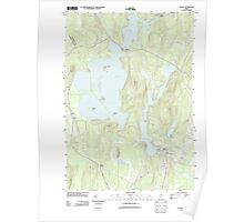 Maine USGS Historical Map Wayne 20110902 TM Poster