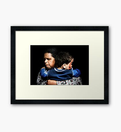 Aunty Joyce and Casey Framed Print