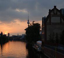 Berlin sunset by edwinek