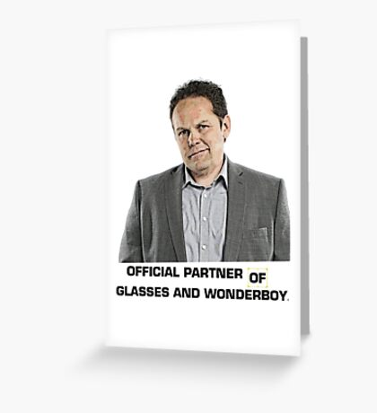 Fusco - Official Partner of Glasses and Wonderboy Greeting Card