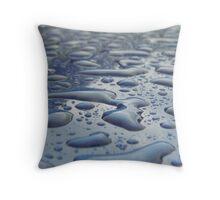 Liquid Drops Throw Pillow