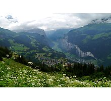 Looking Down on Lauterbrunnen Photographic Print
