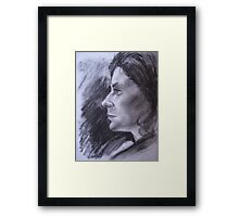 Mary charcoal Framed Print