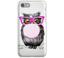Happy chewing gum owl iPhone Case/Skin