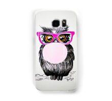 Happy chewing gum owl Samsung Galaxy Case/Skin