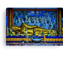 Buddha Reclining Canvas Print