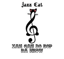 The Jazz Cat Sings Photographic Print