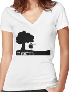Forbidden Fruit - By SUMO Women's Fitted V-Neck T-Shirt