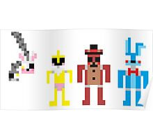Five Nights at Freddys 2 Pixels Poster