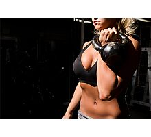Kettle bell work Photographic Print
