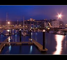 Dover Marina at Dusk by CadmannUK
