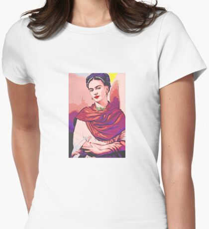 Frida Kahlo Colour Pop Womens Fitted T-Shirt