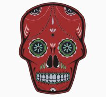 Sugar Skull Red by beeweecee