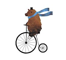 Cheltenham the Bear: Penny farthing fun Photographic Print