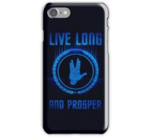 Live Long and Prosper - Spock's hand - Leonard Nimoy Geek Tribut iPhone Case/Skin