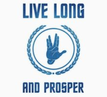 Live Long and Prosper - Spock's hand - Leonard Nimoy Geek Tribut Kids Clothes
