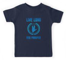 Live Long and Prosper - Spock's hand - Leonard Nimoy Geek Tribut Kids Tee