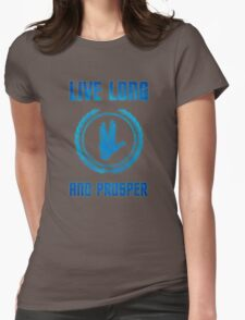Live Long and Prosper - Spock's hand - Leonard Nimoy Geek Tribut Womens Fitted T-Shirt