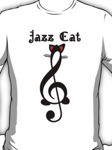 The Jazz Cat (w/text) T-Shirt