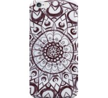 Black & White graphic mandala iPhone Case/Skin