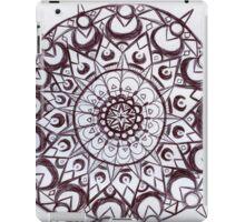 Black & White graphic mandala iPad Case/Skin