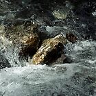 Weisse Lütschine: How long can a stone resist all that water? by Lenka