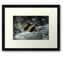Weisse Lütschine: How long can a stone resist all that water? Framed Print