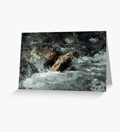 Weisse Lütschine: How long can a stone resist all that water? Greeting Card