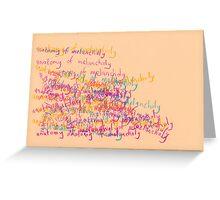 anatomy of melancholy (2015) Greeting Card